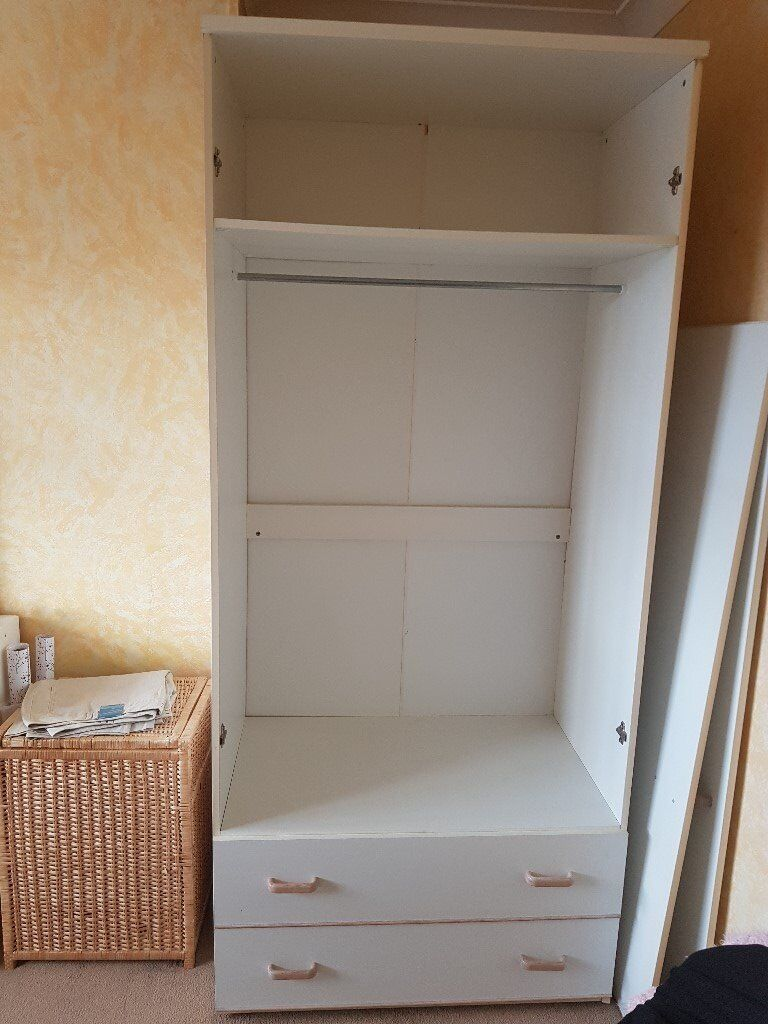 Wardrobe with 2 drawers and inside shelf