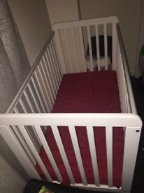 Cot bed and mattress Like New