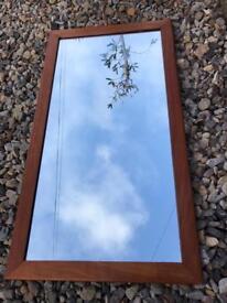 Vintage Mid Century Teak Framed Mirror