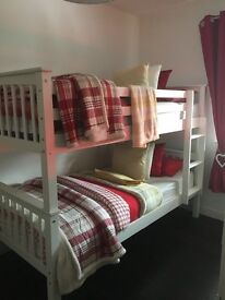 2 month old bunk beds white