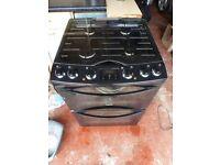 Zanussi ZCK68300B slot-in cooker (60cm) - black - gas hob - double electric oven - new Nov 2014