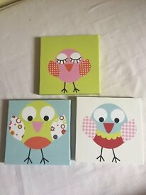Animal and Owl canvas prints