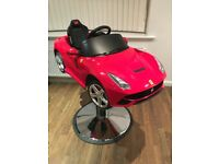 Kids Ferrari F12 berlinetta barber/salon professional hairdressers chair