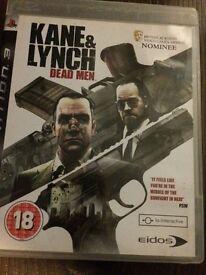PS3 Kane & Lynch Dead Men Game