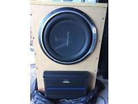 Car custom subwoofer and amplifier