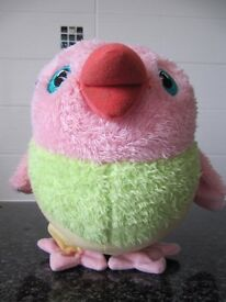 Third the bird muffin. Fisher Price. Talking plush soft toy with moving parts. Batteries included
