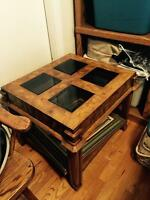 Antique coffee table and side tables