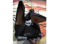 Shoe Box size 6 black and white shoes