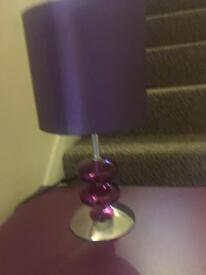 Table lamp and matching bedside table