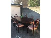 LOVELY REGENCY TABLE AND 6 CHAIRS FREE DELIVERY 🇬🇧
