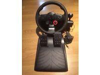 PS3 Logitech force feed back steering wheel
