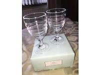 2 Large Wine Glasses By Sophie Conran By Portmeiron - (NEW IN BOX)