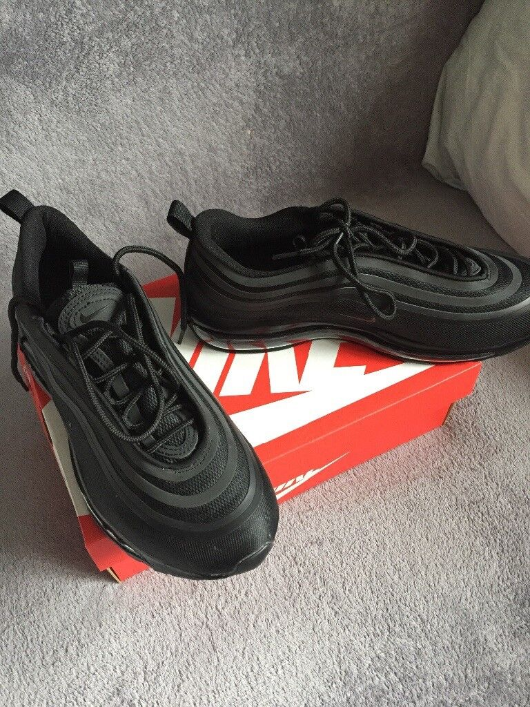 on sale 242c7 af63b NIKE AIR MAX 97 TRIPLE BLACK ONLY £80, BRAND NEW WITH BOX