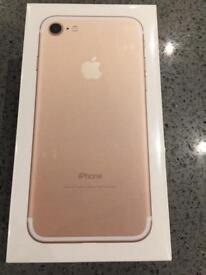 iPhone 7 rose gold 32GB new in a box