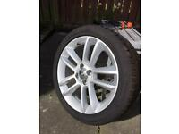 """17"""" Alloy with good 215x45x17 tyre"""