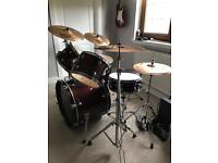 Premier Drum kit with Sabian cymbals