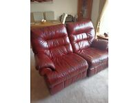 FREE ELECTRIC RECLINING LEATHER SOFA