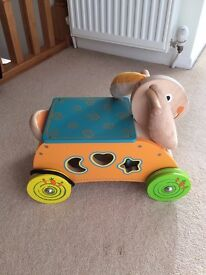 Babies ride on bunny with activity shapes in excellent condition as hardly used.