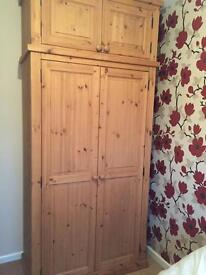 double wardrobe and top box from old Creamery worth £450 new