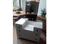 Vintage White painted wooden dresser