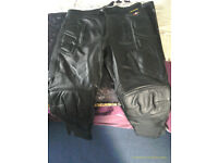 leather bike jeans.