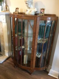 Lovely bow front display cabinet