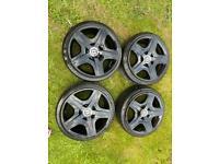 "4 genuine 19"" Bentley alloy wheels with Pirelli tyres will post"