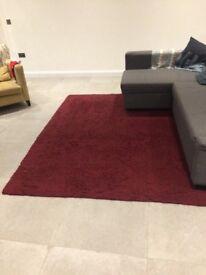 Habitat rug, maroon/wine colour
