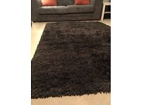 Large long pile rug