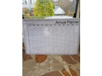 White board yearly planner