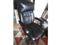 Songmics fully reclining office chair + footrest
