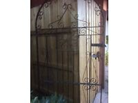 Garden gate. Ornamental