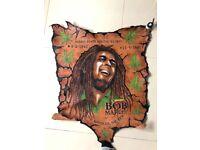 Bob Marley burnt leather wall art