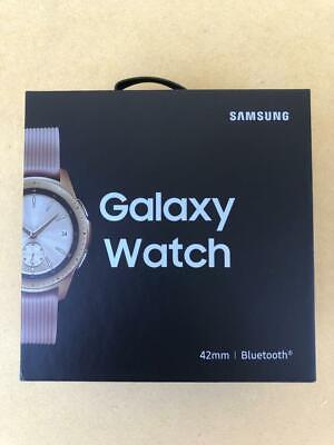 Samsung Galaxy Watch SM-R810 42mm Rose Gold Case Classic Buckle Pink Beige New