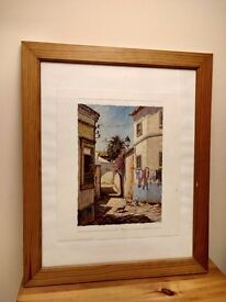 Framed and glazed print