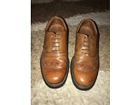 Men Tan Brogues shoes UK7