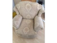 Cream floral armchair. Good condition. Free to a good home but must collect this weekend