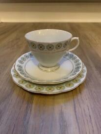 Cup and Saucer Trio Bone China