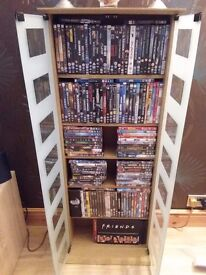 130 DVD's and display case