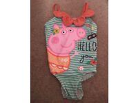 Peppy Pig swimming costume 2-3