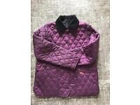 GIRLS BARBOUR QUILTED JACKET AGE 14/15