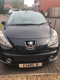 Peugeot 207cc sport 8 months mot in black 58 plate