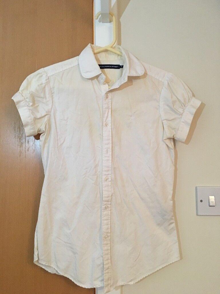 Ralph Lauren Sport shirt, white, 8 GBP US 2, UK 8
