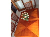 Extending Solid Wood Dining Table & 6 chairs