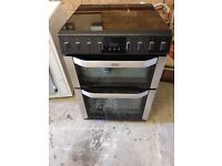Belling freestanding induction glass hob and double oven