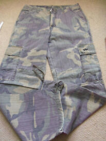 ALFA industries ARMY CAMO combat trousers SIZE 31L - Perfect condition