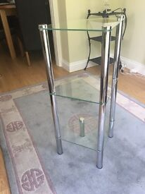 Two Glass shelve units