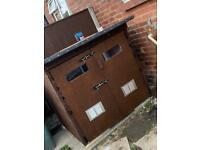 Storage/dog house for garden