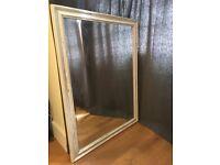 Large distressed paintwork mirror