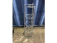 Chrome pot and pan stand FREE DELIVERY PLYMOUTH AREA